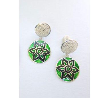 Lai|Green and Black Dangle Earrings
