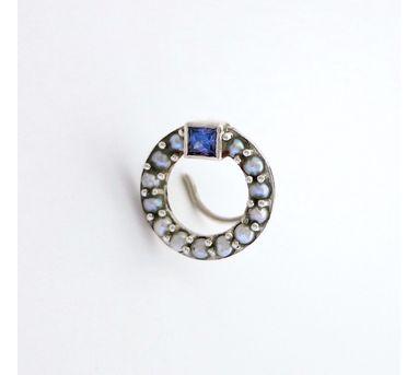 Lai Pearl Encrusted Circle Nosepin