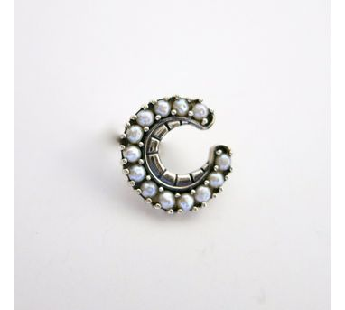 Lai|Pearl Encrusted Crescent Nosepin