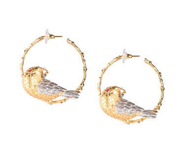 Limited Edition | Frost Gold Bird Bali Earrings