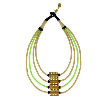 Maya Bazaar | Green Razor Mamba Pendant Necklace