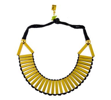 Maya Bazaar   Spun Gold Necklace