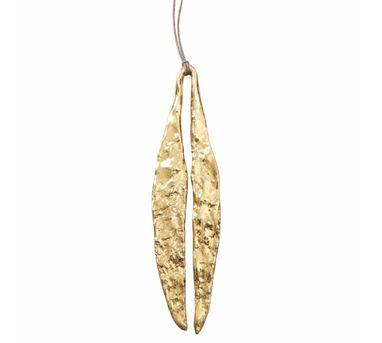 Manifest Design|Quarry Long Leaf Pendent Gold
