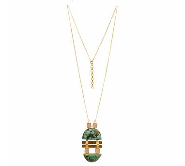 Madiha Jaipur| Green Green Necklace