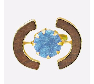 Madiha Jaipur|Cocktail Aqua Sugar Ring
