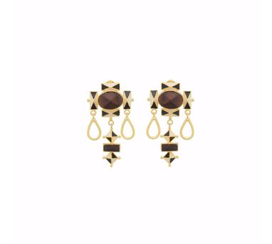 Madiha Jaipur|Black Dome of Giza Earrings