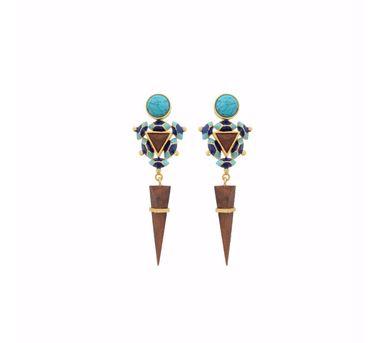 Madiha Jaipur Blue Sphinx Earrings