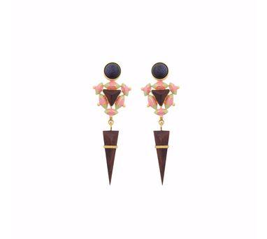 Madiha Jaipur Pink Sphinx Earrings