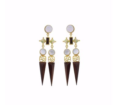 Madiha Jaipur Green Armory Earrings