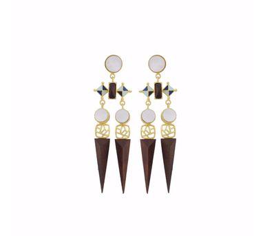 Madiha Jaipur Blue Armory Earrings