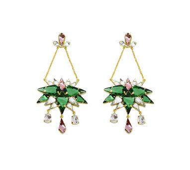 Maithili Kabre|Wild Rose Chandelier Earrings