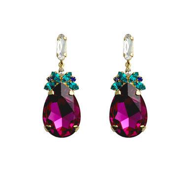 Maithili Kabre Fuchsia Drop Earrings