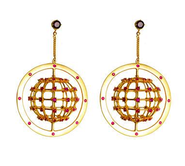 Maithili Kabre   Galileo rotating earrings