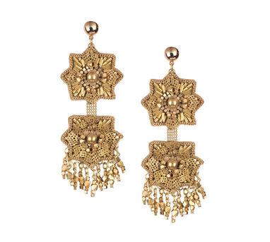 Malleka Star Brass Earrings