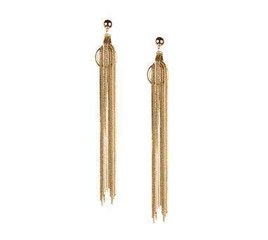 Malleka Round Tassel Earrings