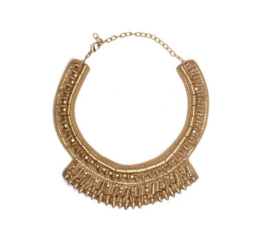 Malleka|Spoke Brass Necklace