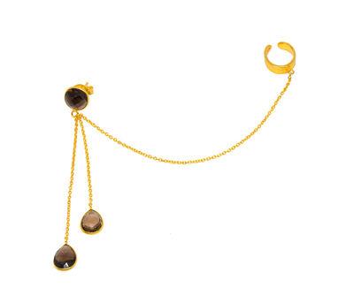 MYO Designs | Smoky Briolette Earrings