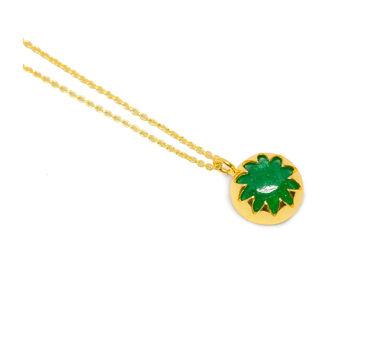 MYO Designs | Green Quartz Cabushion Necklace