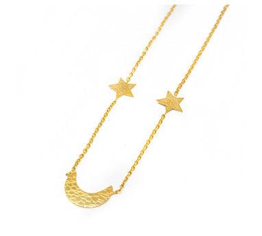 MYO Designs |Star-Mooon-Star Necklace