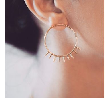 Myo Designs|Sunshine Hoops Earrings
