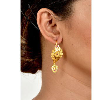 Naani'ki|Ambi Goldtone Silver Earrings