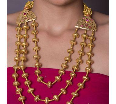 Naani'ki|Hoi Goldtone Silver Necklace