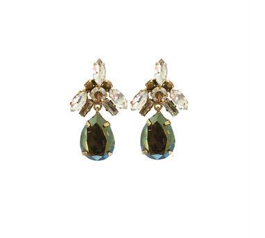 Radhika Agrawal|Lisa Drops Green Earrings