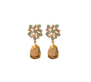 Radhika Agrawal Pinwheel Drops Rosegold Earrings