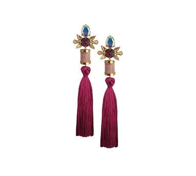 Radhika Agrawal Mauve Tassel Earring