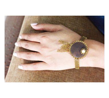 RejuvenateIEnameled Circular wooden Bracelet