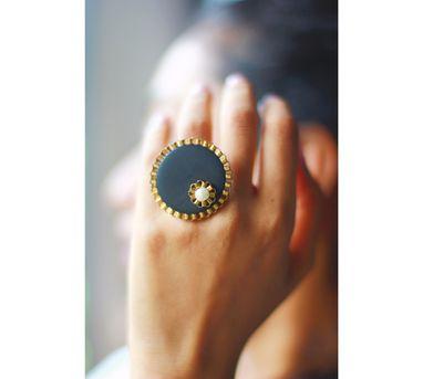 RejuvenateIEnameled Brown Circular Wooden Ring