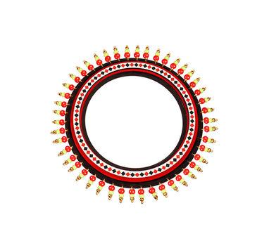 Razia Kunj Theyyam Art Inspired Diamond Motif Bangle