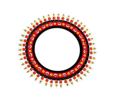 Razia Kunj|Theyyam Art Inspired Half  Moon Motif Bangle