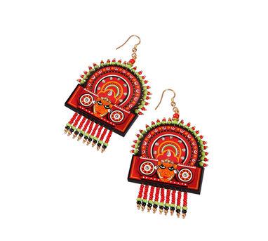 Razia Kunj Theyyam Mask Motif Earring