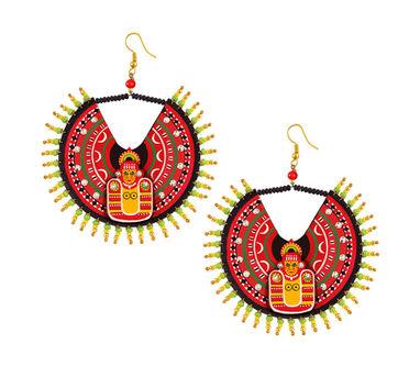 Razia Kunj Large Theyyam Mask Inspired Circular Earring