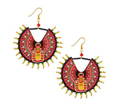 Razia Kunj|Medium Theyyam Mask Inspired   Circular Earring