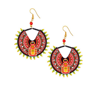 Razia Kunj Small Theyyam Mask Inspired Circular Earring