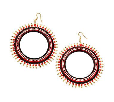 Razia Kunj Theyyam Art Inspired Diamond Motif Earring
