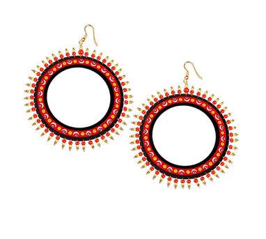 Razia Kunj Theyyam Art Inspired  Half Moon Motif Earring