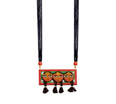 Razia Kunj  Three Deviyan Motif Inspired Necklace
