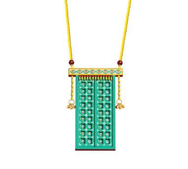 Razia Kunj Sky Blue Jharoka Inspired Necklace