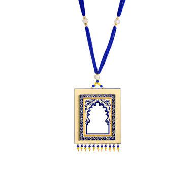 Razia Kunj  Royal Blue Jharoka Inspired Neclace