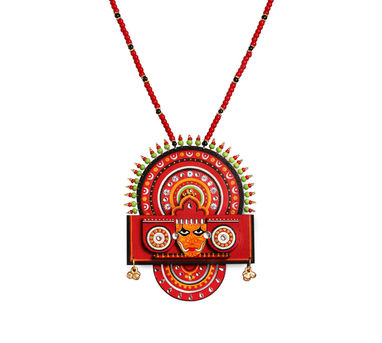 Razia Kunj|Theyyam Necklace With Ghungroo Droppings