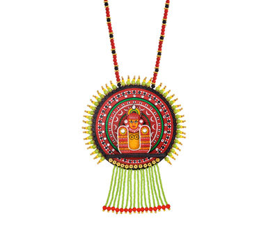 Razia Kunj|Theyyam Dance Costume Necklace With Bead Droppings