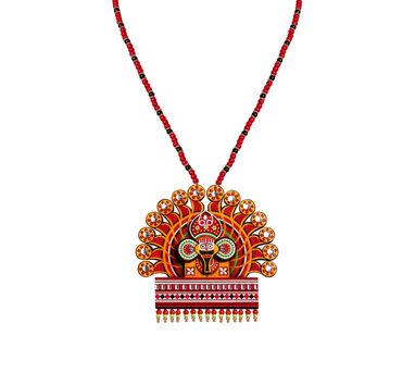 Razia Kunj|Theyyam Mask & Costume Necklace