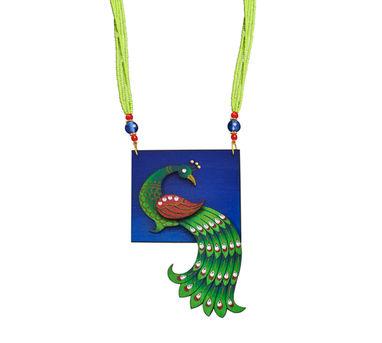 Razia Kunj Vignette  Peacock Motif Necklace