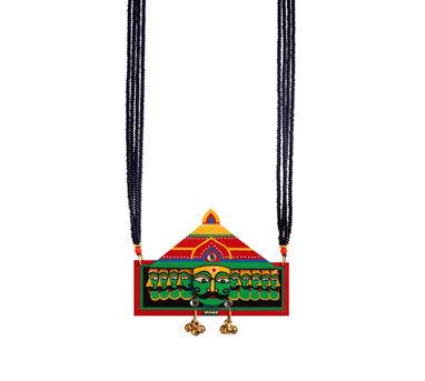 Razia Kunj Vignette Green  Raavan Motif Necklace
