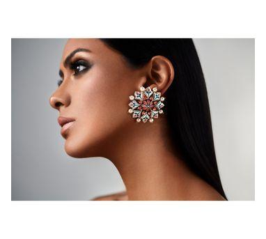 Amrapali| Mughal Garden Stud Earring