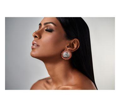 Amrapali| Mughal Garden Circular Earring