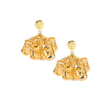 Simran Chhabra   Bucket Charm Earrings